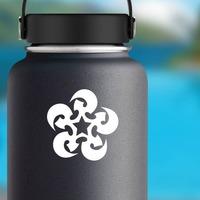 Swirling Star Sticker on a Water Bottle example