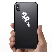 Swirly Dragon Sticker on a Phone example