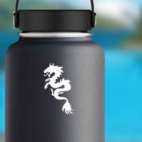 Swirly Dragon Sticker on a Water Bottle example