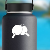 Table Tennis Ping Pong Sticker on a Water Bottle example