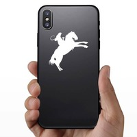 Talented Cowboy Riding A Horse Sticker on a Phone example