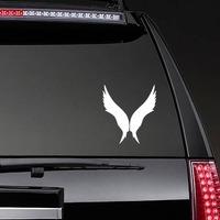Tall Angel Wings Sticker on a Rear Car Window example