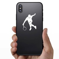 Tennis Player Running For Ball Sticker on a Phone example