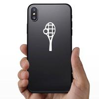 Tennis Racquet & Ball Sticker on a Phone example