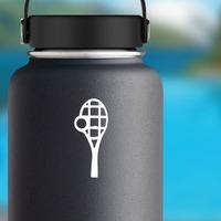 Tennis Racquet & Ball Sticker on a Water Bottle example