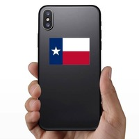 Texas Tx State Flag Sticker on a Phone example