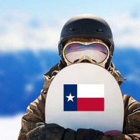 Texas Tx State Flag Sticker on a Snowboard example