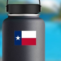 Texas Tx State Flag Sticker on a Water Bottle example
