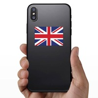 The United Kingdom Flag Sticker on a Phone example