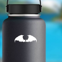 Thick Bat Wings Sticker on a Water Bottle example