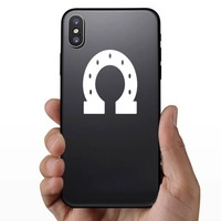Thick Horseshoe Sticker on a Phone example
