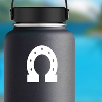 Thick Horseshoe Sticker on a Water Bottle example