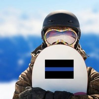 Thin Blue Line Flag Sticker on a Snowboard example