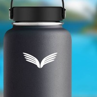 Thin Wings Sticker on a Water Bottle example
