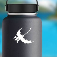 Three Headed Flying Dragon Sticker on a Water Bottle example
