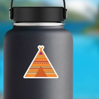 Tipi Hippie Sticker on a Water Bottle example