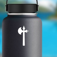 Tomahawk Sticker on a Water Bottle example