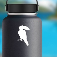 Toucan Looking To The Right Sticker on a Water Bottle example
