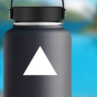 Triangle Shape Sticker on a Water Bottle example