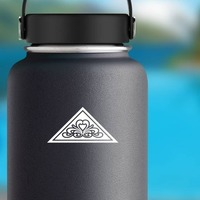 Triangle With Design Sticker on a Water Bottle example