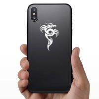 Tribal Dragon Swirl Sticker on a Phone example
