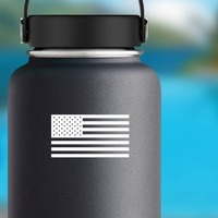 United States Of America Flag Sticker on a Water Bottle example
