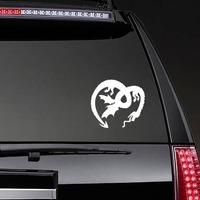 Upside Down Dragon Sticker on a Rear Car Window example