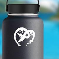 Upside Down Dragon Sticker on a Water Bottle example