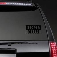 US Army Mom Stencil Sticker on a Rear Car Window example