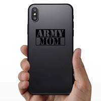 US Army Mom Stencil Sticker on a Phone example