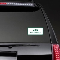 Van Accessible Sticker on a Rear Car Window example
