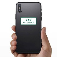 Van Accessible Sticker on a Phone example