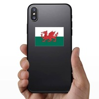 Wales Flag Sticker on a Phone example