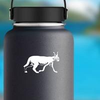 Walking Lynx Sticker on a Water Bottle example