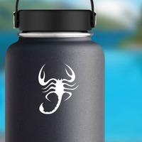 Wavy Scorpion Sticker on a Water Bottle example