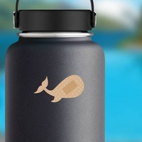 Whale Band Aid Bandage Sticker on a Water Bottle example