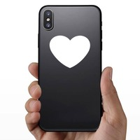 Wide Heart Shape Sticker on a Phone example