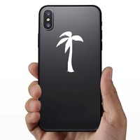 Wind Blowing On Palm Tree Sticker on a Phone example