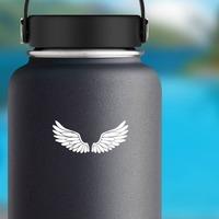 Wings - Angel Or Bird Sticker on a Water Bottle example