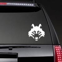 Wolf Coyote Dog Head Sticker on a Rear Car Window example