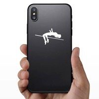 Women's High Jump Sticker on a Phone example