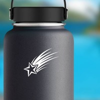 Wonderful Shooting Star Sticker on a Water Bottle example