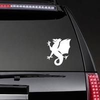 Wyvern Dragon Sticker on a Rear Car Window example