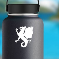 Wyvern Dragon Sticker on a Water Bottle example