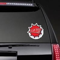 Yeah Comic Sticker on a Rear Car Window example