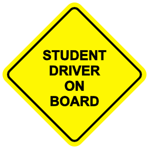 Student Driver On Board Sticker