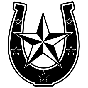 Horseshoe With Stars Sticker