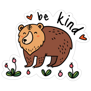Be Kind Camping Sticker
