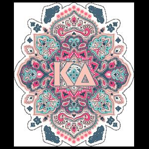 Light Pink and Blue Kappa Delta Mandala Sticker