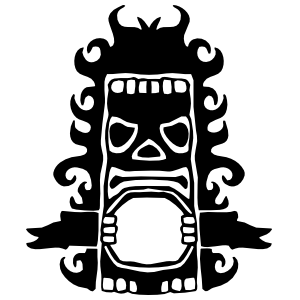 Tiki Screaming Sticker